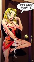 תמונה של שמלה אדומה ואזיקים   תמונות