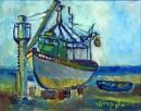 ספינת דייג בתיקון