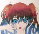 נערה עם עיניים כחולות