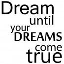 Dream until true