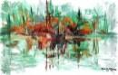 השתקפות עיר באגם