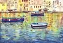 מים מנצנצים בנמל