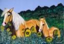 סוסים וחמניות