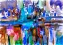 מופשט עם גווני כחול
