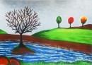 עץ שתול על פלגי מים
