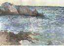 סלעים בים