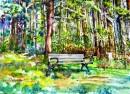 ספסל ביער