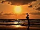 שקיעה בחוף הים