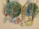 עצים בקיבוץ מנרה