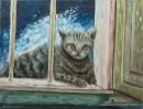 חתולה בחלוני