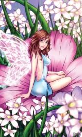 פיית הפרחים הורודים