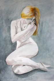 אישה עם קעקוע ורד