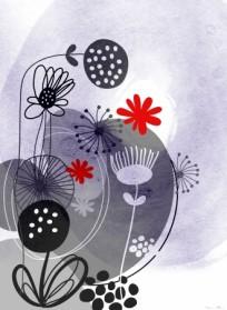 פרחים באפור