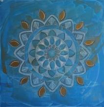 תמונה של מנדלה בכחול וזהב   תמונות