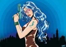 תמונה של Gun girl blue | תמונות