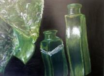 תמונה של בקבוקונים  ירוקים   תמונות