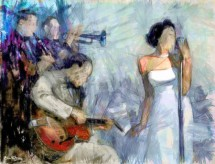 תמונה של זמרת עם תזמורת | תמונות