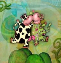 תמונה של פרות מרקדות | תמונות