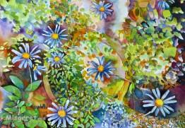 פרחי גינה כחולים