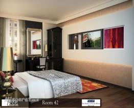 חדר שינה מלונאי