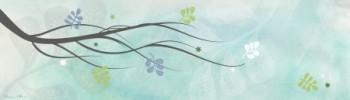 ענף בשלכת רקע תכלת