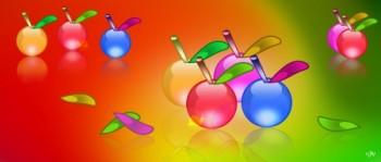 תפוחים ציבעונים