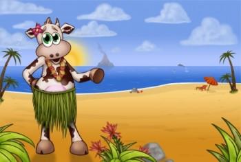 בלה הפרה בחוף של הוואי