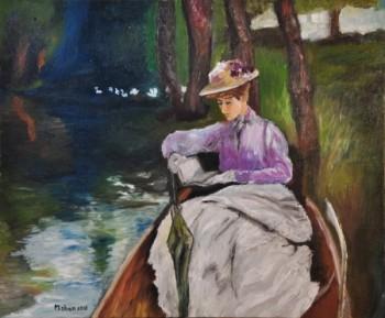 אשה בסירה