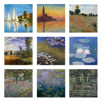 Claude Monet collage