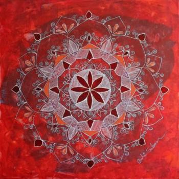 מנדלת פרח אדום