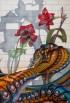 פרח האיביסקוס והנחש