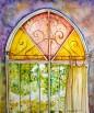 חלון ירושלמי צבעוני