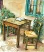 שולחן, כסאות ועיתון