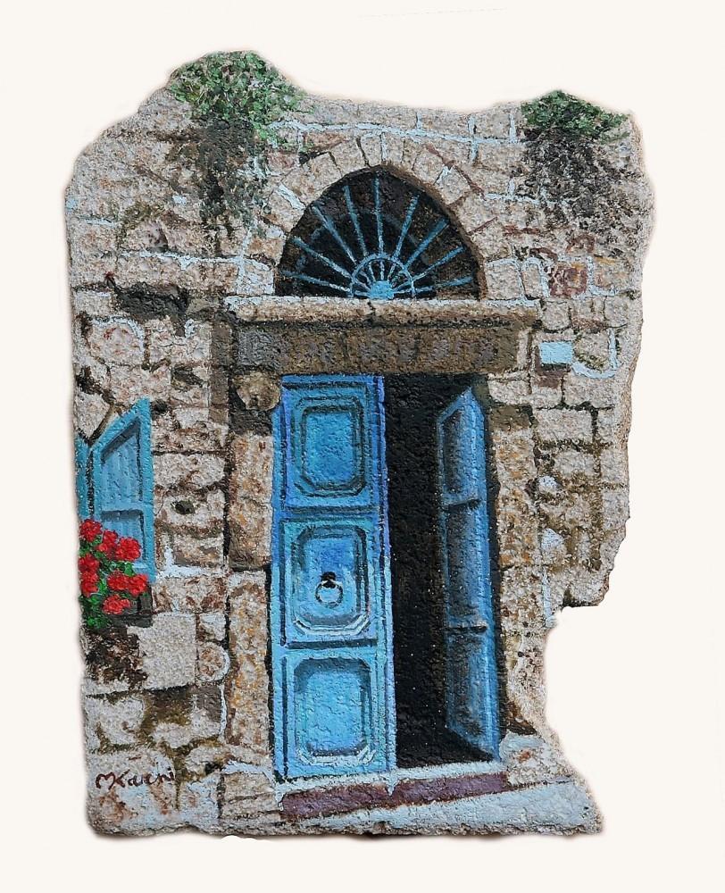 דלת טורקיז אותנטית.