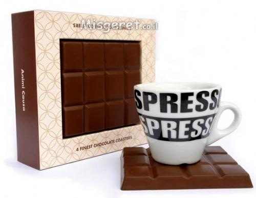 תחתיות בעיצוב שוקולד