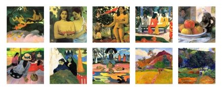Paul Gauguin collage