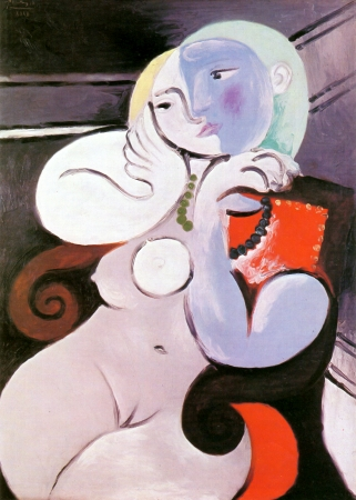 Nude Woman In A Red Armch