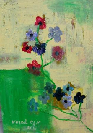 ,פרחים בהשתקפות
