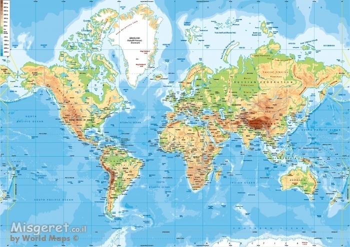 מפת עולם תמונה 198956 מסגרת