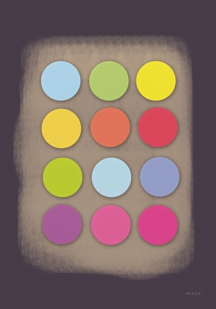 2 gray play dots