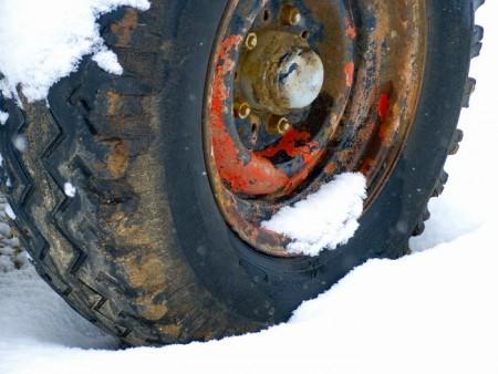 גלגל בשלג