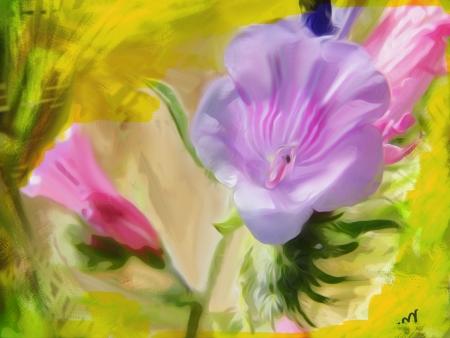 פרח לובש ורוד