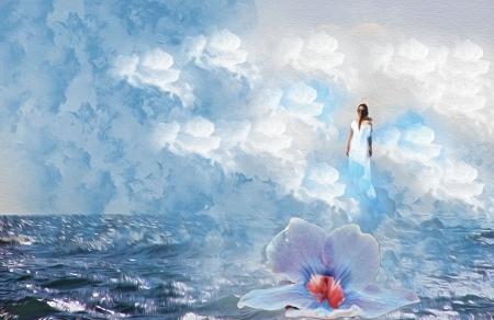 אשה בים