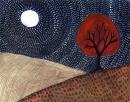 עץ אדום וירח