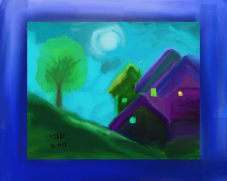 בתים וירח