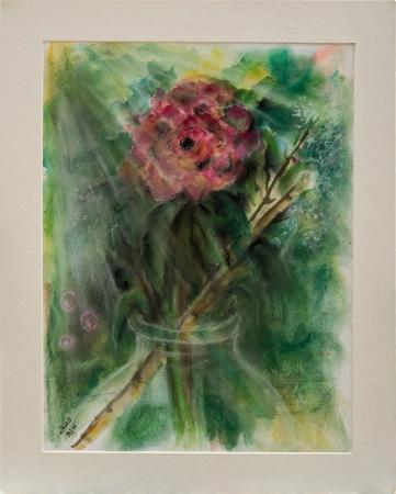 ורד בצנצנת זכוכית
