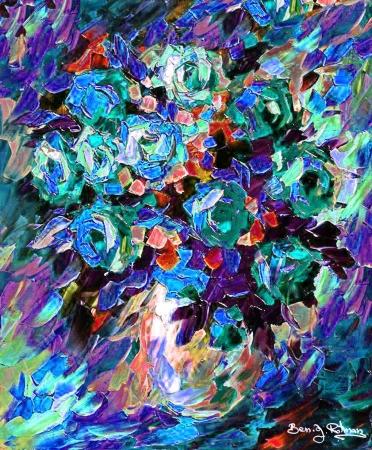 פרחים ירוקים ו,,,,כתומים