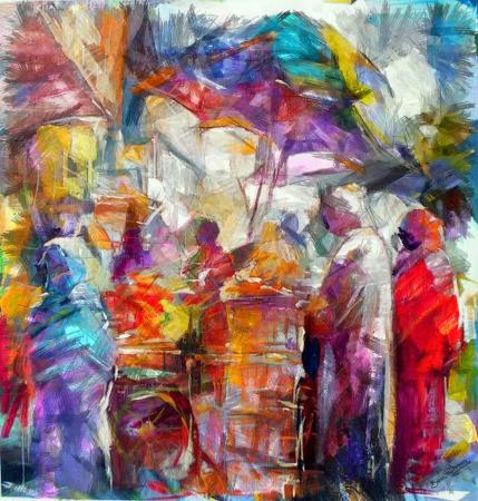 שוק ערבי צבעוני