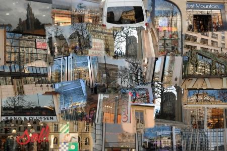 פריז בהשתקפות מחלונות