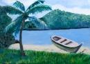 סירה על ספת האגם